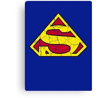 Inverted Superman Canvas Print