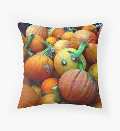 Whidbey Pumpkins Three Throw Pillow