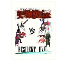 Final Fantasy VS Resident Evil Art Print