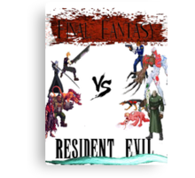 Final Fantasy VS Resident Evil Canvas Print