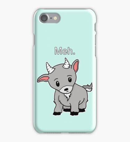 Meh. - Goat of indifference  iPhone Case/Skin