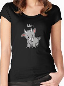 Meh. - Goat of indifference  Women's Fitted Scoop T-Shirt