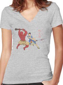Peach Boy Women's Fitted V-Neck T-Shirt