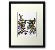 Epic 8 bit Battle! Framed Print