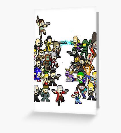 Epic 8 bit Battle! Greeting Card