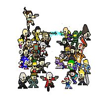Epic 8 bit Battle! Photographic Print