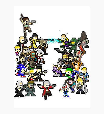 Epic 8 bit Battle! Photographic Print