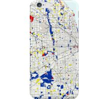 Map of Chicagoland in the style of Piet Mondrian iPhone Case/Skin