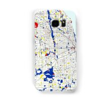 Map of Chicagoland in the style of Piet Mondrian Samsung Galaxy Case/Skin