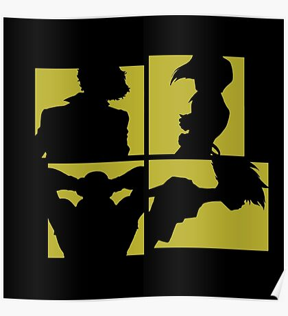 Cowboy Bebop Silhouettes (3nd color). Poster
