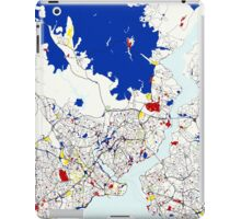 Map of Istanbul in the style of Piet Mondrian iPad Case/Skin