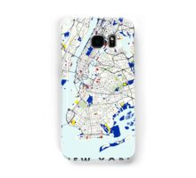Map of New York in the style of Piet Mondrian Samsung Galaxy Case/Skin