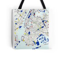 Map of New York in the style of Piet Mondrian Tote Bag