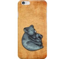Koalas - a cute hand drawn illustration of a mother koala and her baby iPhone Case/Skin
