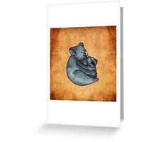 Koalas - a cute hand drawn illustration of a mother koala and her baby Greeting Card