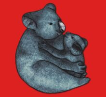 Koalas - a cute hand drawn illustration of a mother koala and her baby Kids Tee