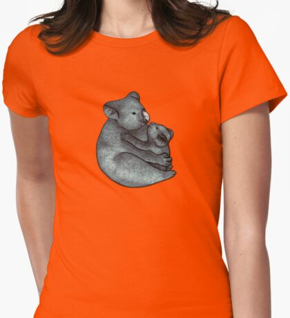 Koalas - a cute hand drawn illustration of a mother koala and her baby Womens Fitted T-Shirt