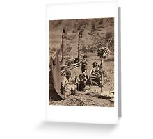 Aboriginal life among the Navajoe Indians. Near old Fort Defiance 1872 Greeting Card