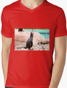 Penguin calling ! Mens V-Neck T-Shirt