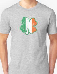 Four Leaf Clover with Irish Flag T-Shirt