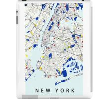 Map of New York in the style of Piet Mondrian iPad Case/Skin