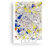 Paris - Mondrian Style Canvas Print