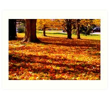 Mother Natures Fall Carpeting Art Print