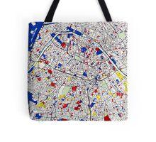 Paris - Mondrian Style Tote Bag