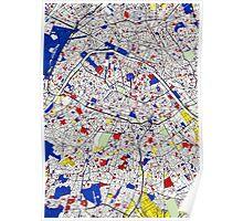 Paris - Mondrian Style Poster
