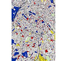 Paris - Mondrian Style Photographic Print
