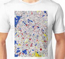 Paris - Mondrian Style Unisex T-Shirt