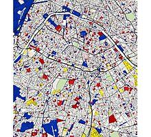 Paris - Mondrian Style by Adam Asar