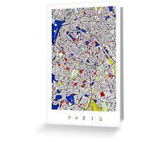 Paris - Mondrian Style Greeting Card