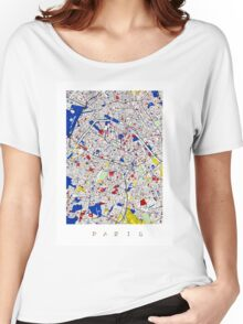 Paris - Mondrian Style Women's Relaxed Fit T-Shirt