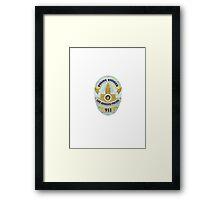 LAPD Detective Badge Framed Print