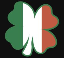 Four Leaf Clover with Irish Flag Kids Clothes