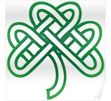 Celtic Fourl Leaf Clover Poster