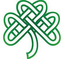 Celtic Fourl Leaf Clover Photographic Print