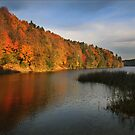 The autumn lake (Lithuania) by Antanas