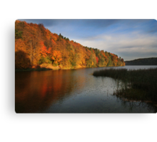 The autumn lake (Lithuania) Canvas Print
