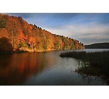 The autumn lake (Lithuania) Photographic Print