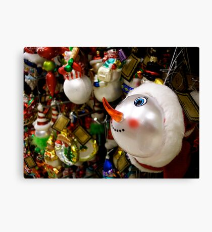 I Want The Snowman! Canvas Print