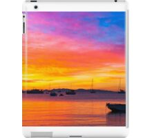 Amazing sunset on the ocean iPad Case/Skin