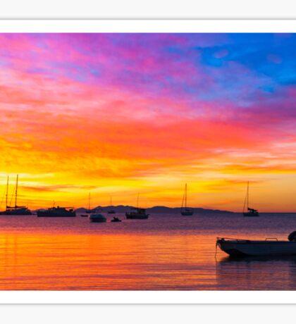Amazing sunset on the ocean Sticker