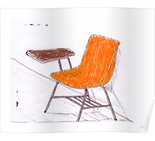 Orange Chair Poster