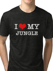 I Love My Jungle - Black  Tri-blend T-Shirt