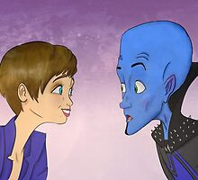 Megamind and Roxanne Ritchi by megacraze