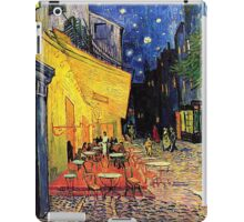 The Cafe Terrace on the Place du Forum, Arles, at Night,  Vincent van Gogh iPad Case/Skin