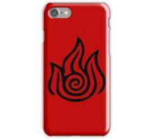 Firebending Black iPhone Case/Skin