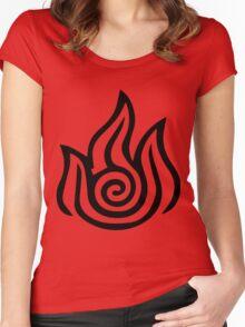 Firebending Black Women's Fitted Scoop T-Shirt